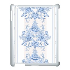 Beautiful,pale Blue,floral,shabby Chic,pattern Apple Ipad 3/4 Case (white) by 8fugoso
