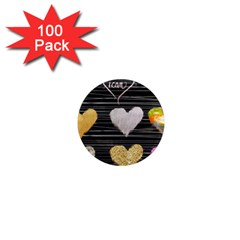 Modern Heart Pattern 1  Mini Magnets (100 Pack)  by 8fugoso