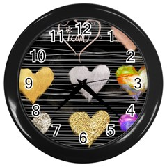 Modern Heart Pattern Wall Clocks (black) by 8fugoso