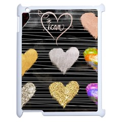 Modern Heart Pattern Apple Ipad 2 Case (white) by 8fugoso