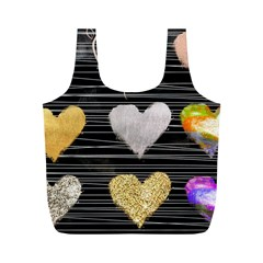 Modern Heart Pattern Full Print Recycle Bags (m)  by 8fugoso
