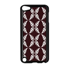 Crimson Print Apple Ipod Touch 5 Case (black) by julissadesigns
