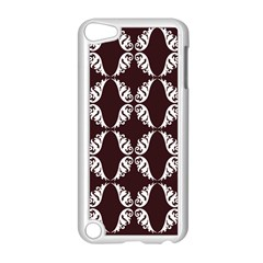Crimson Print Apple Ipod Touch 5 Case (white) by julissadesigns