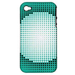 Circle Therapy Print Apple Iphone 4/4s Hardshell Case (pc+silicone) by julissadesigns