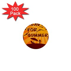 Ready For Summer 1  Mini Buttons (100 Pack)  by Melcu