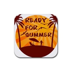 Ready For Summer Rubber Coaster (square)  by Melcu
