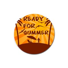 Ready For Summer Magnet 3  (round) by Melcu