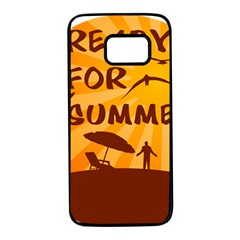 Ready For Summer Samsung Galaxy S7 Black Seamless Case by Melcu