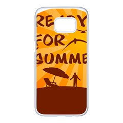 Ready For Summer Samsung Galaxy S7 Edge White Seamless Case by Melcu
