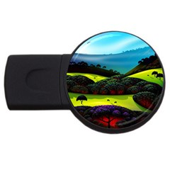 Morning Mist Usb Flash Drive Round (4 Gb) by ValleyDreams