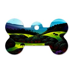 Morning Mist Dog Tag Bone (two Sides) by ValleyDreams