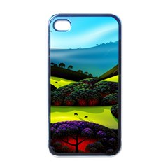 Morning Mist Apple Iphone 4 Case (black) by ValleyDreams