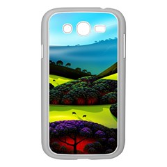 Morning Mist Samsung Galaxy Grand Duos I9082 Case (white) by ValleyDreams