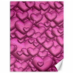 Shimmering Hearts Pink Canvas 36  X 48   by MoreColorsinLife