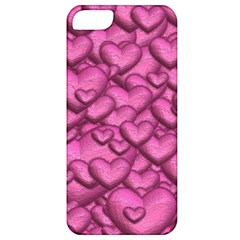 Shimmering Hearts Pink Apple Iphone 5 Classic Hardshell Case by MoreColorsinLife