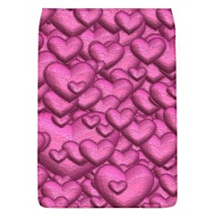 Shimmering Hearts Pink Flap Covers (l)  by MoreColorsinLife