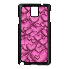 Shimmering Hearts Pink Samsung Galaxy Note 3 N9005 Case (black) by MoreColorsinLife