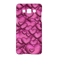 Shimmering Hearts Pink Samsung Galaxy A5 Hardshell Case  by MoreColorsinLife