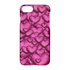 Shimmering Hearts Pink Apple Iphone 7 Hardshell Case by MoreColorsinLife