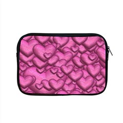 Shimmering Hearts Pink Apple Macbook Pro 15  Zipper Case by MoreColorsinLife