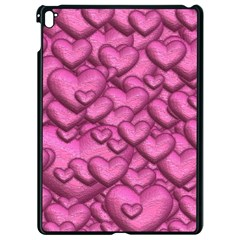 Shimmering Hearts Pink Apple Ipad Pro 9 7   Black Seamless Case