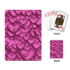 Shimmering Hearts Pink Playing Card by MoreColorsinLife
