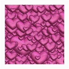 Shimmering Hearts Pink Medium Glasses Cloth by MoreColorsinLife