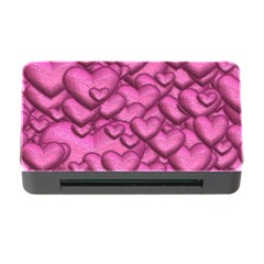 Shimmering Hearts Pink Memory Card Reader With Cf by MoreColorsinLife