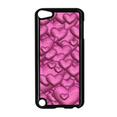 Shimmering Hearts Pink Apple Ipod Touch 5 Case (black) by MoreColorsinLife