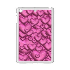 Shimmering Hearts Pink Ipad Mini 2 Enamel Coated Cases by MoreColorsinLife