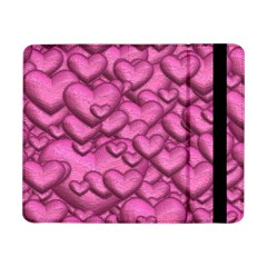 Shimmering Hearts Pink Samsung Galaxy Tab Pro 8 4  Flip Case by MoreColorsinLife