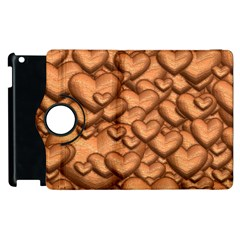 Shimmering Hearts Peach Apple Ipad 2 Flip 360 Case by MoreColorsinLife