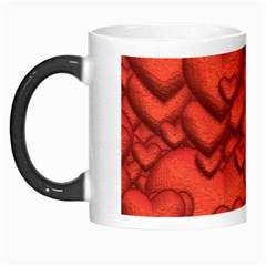Shimmering Hearts Deep Red Morph Mugs by MoreColorsinLife