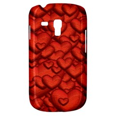 Shimmering Hearts Deep Red Galaxy S3 Mini by MoreColorsinLife