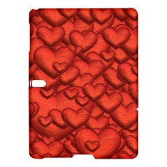 Shimmering Hearts Deep Red Samsung Galaxy Tab S (10 5 ) Hardshell Case  by MoreColorsinLife