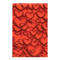 Shimmering Hearts Deep Red Shower Curtain 48  X 72  (small)  by MoreColorsinLife