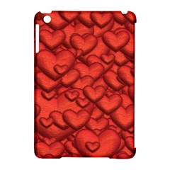 Shimmering Hearts Deep Red Apple Ipad Mini Hardshell Case (compatible With Smart Cover) by MoreColorsinLife