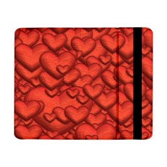 Shimmering Hearts Deep Red Samsung Galaxy Tab Pro 8 4  Flip Case by MoreColorsinLife