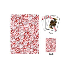 Vivid Hearts, Red Playing Cards (mini)  by MoreColorsinLife