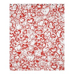 Vivid Hearts, Red Shower Curtain 60  X 72  (medium)  by MoreColorsinLife