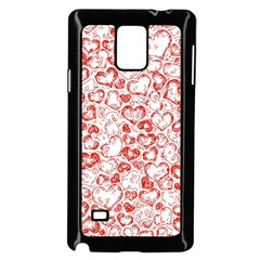 Vivid Hearts, Red Samsung Galaxy Note 4 Case (black) by MoreColorsinLife