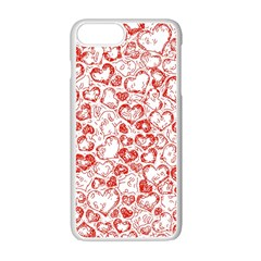 Vivid Hearts, Red Apple Iphone 7 Plus Seamless Case (white) by MoreColorsinLife