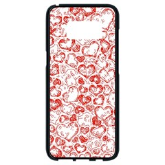 Vivid Hearts, Red Samsung Galaxy S8 Black Seamless Case by MoreColorsinLife