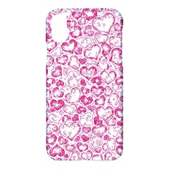 Vivid Hearts, Pink Apple Iphone X Hardshell Case by MoreColorsinLife