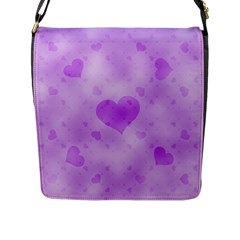Soft Hearts D Flap Messenger Bag (l)  by MoreColorsinLife