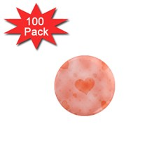 Soft Hearts C 1  Mini Magnets (100 Pack)  by MoreColorsinLife