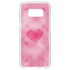 Soft Hearts A Samsung Galaxy S8 White Seamless Case by MoreColorsinLife