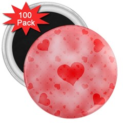 Soft Hearts B 3  Magnets (100 Pack)