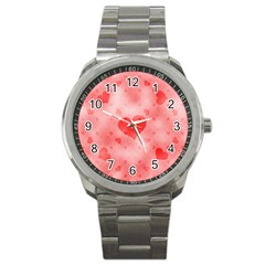 Soft Hearts B Sport Metal Watch by MoreColorsinLife