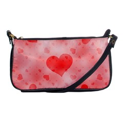 Soft Hearts B Shoulder Clutch Bags by MoreColorsinLife